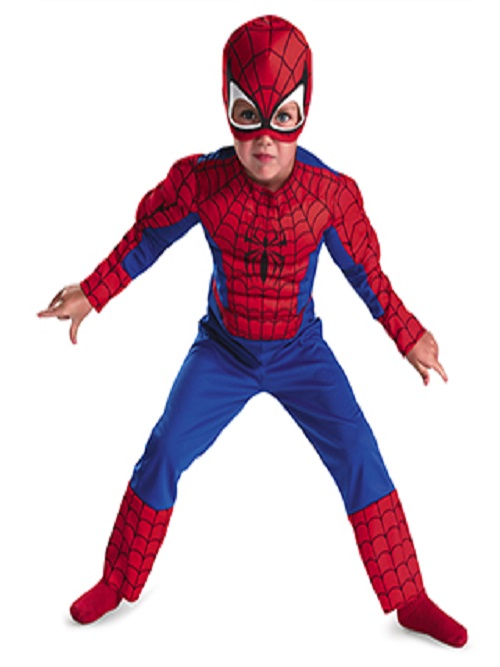 Spiderman With Muscle Chest Child Kostume Room