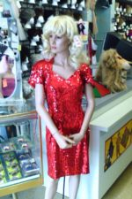 80's-90's Sequin red dress