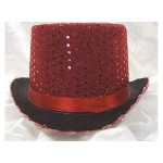Top Hat Red Sequin
