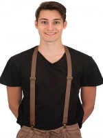 Suspenders-faux leather