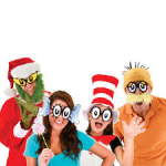 Dr Suess Cartoon eye glasses