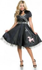 Satin Poodle Dress