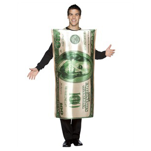 $100 bill money costume