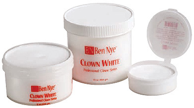 clown white ben nye makeup