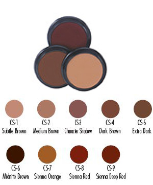 brown shadow creme makeup from ben nye