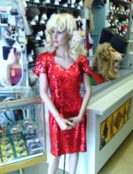 80's-90's Sequin red dress (Rental)