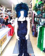 Showgirl with Teal feather headpiece (Rental)