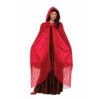 Elegant Ruby Red Cape (Rental)
