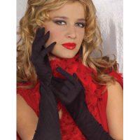 Ruched Long Gloves in Black