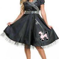 Satin Poodle Dress