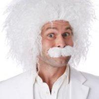 Einstein Wig and Mustache