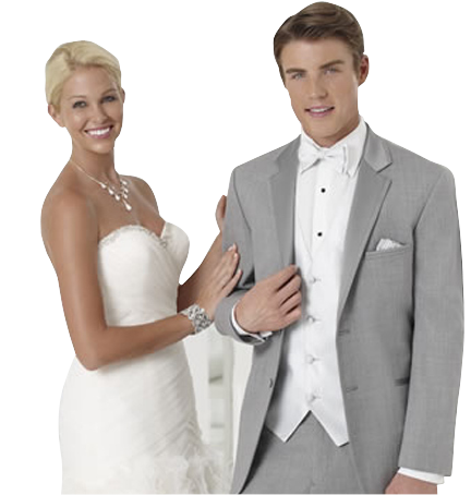 couple with kostume room tuxedo rental