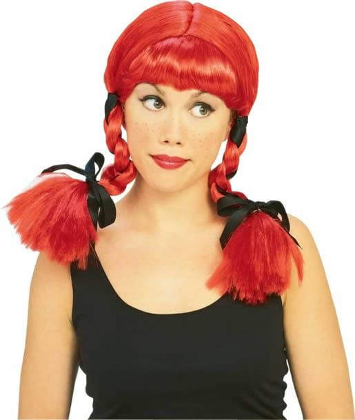 country girl wig,red pigtail wig,blonde pig tail wig,kostumeroom,kostume room,costumeroom,costume room,rubies