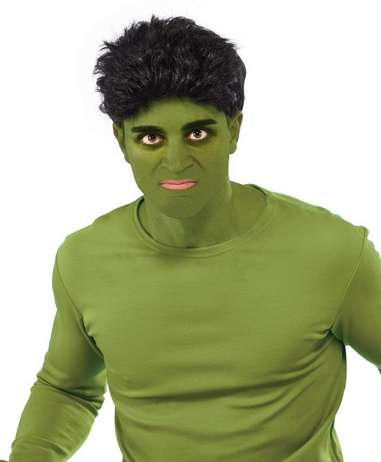 hulk wig,men's short black wig,kostumeroom,kostume room,costumeroom,costume room,rubies