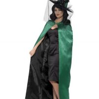 Witch Satin Green Cape
