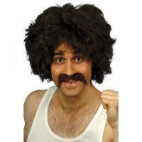 Retro Wig with mustache