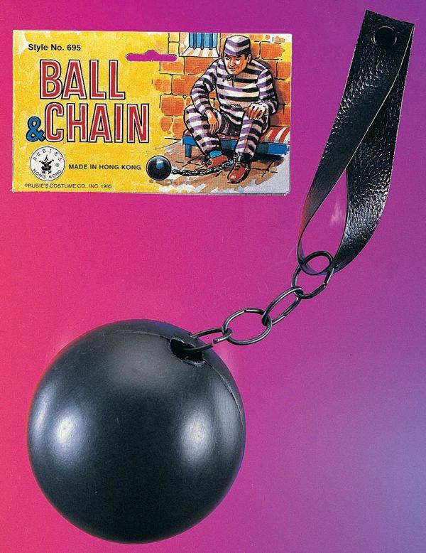 Ball & chain,convict,prinsoner,kostumeroom,kostume room,costumeroom,costume room,rubies