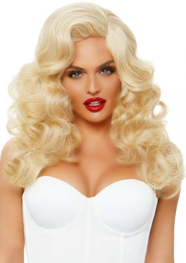 bombshell wig,blonde wig,40's wig,50's wig,kostumeroom,kostume room,costumeroom,costume room,leg avenue