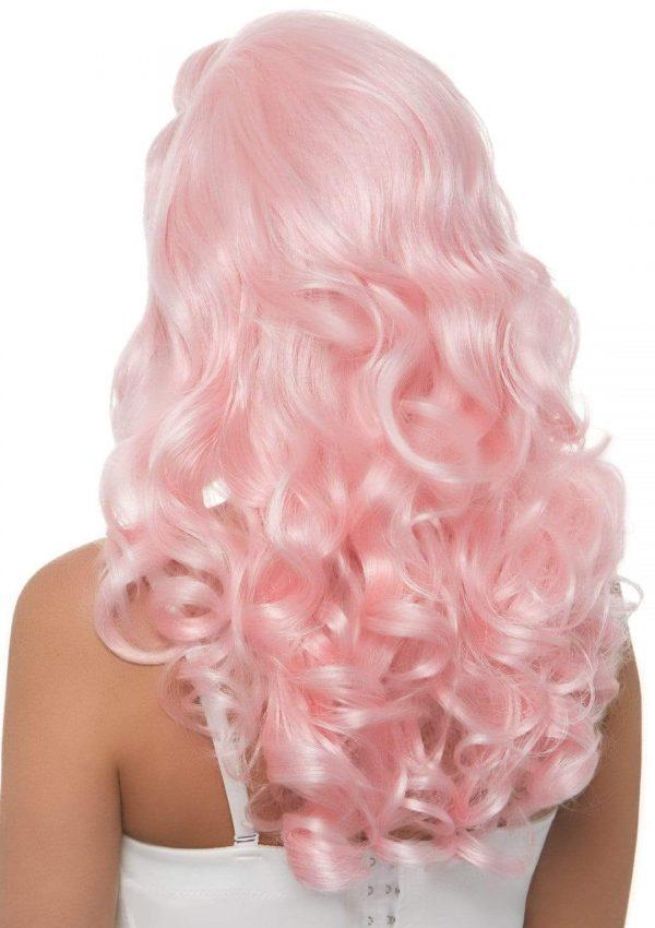 bombshell pink wig,1940's wig,1950's wig,kostumeroom,kostume room,costumeroom,costume room,leg avenue