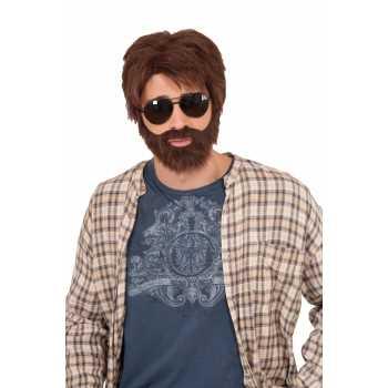 vegas hero wig,brown men's wig,wig & beard set,kostumeroom,kostume room,costumeroom,costume room,forum