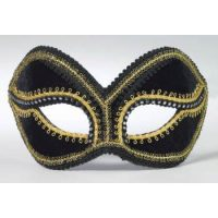 Venetian Black & Gold Mask