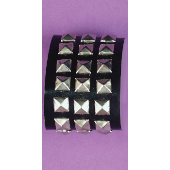 studded wrist band,triple studded wrist band,kostumeroom,kostume room,costumeroom,costume room,forum novelties