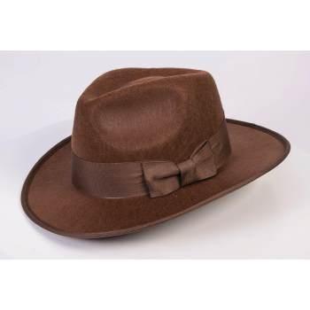 fedora,brown fedora,1940's adventurer hat,kostumeroom,kostume room,costumerom,costume room,forum novelties