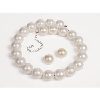 jewlery,50's pearls,pearl necklace,pearl earrings,kostumeroom,kostume room,costumeroom,costume room,forum novelties