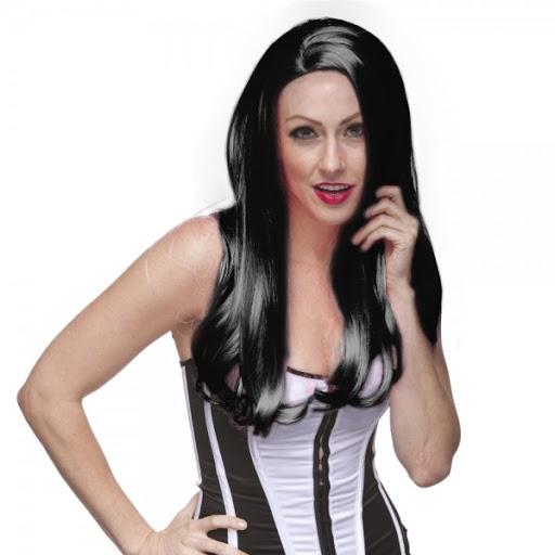 long straight black wig,no bang black wig,kostumeroom,kostume room,costumeroom,costume room,westbay wigs