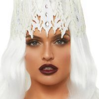 White Glitter Crown