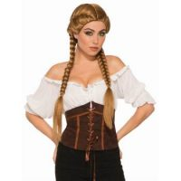 Brown Braided Wig